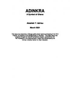 ADINKRA A Symbol of Ghana