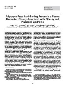 Adipocyte Fatty Acid Binding Protein Is a Plasma Biomarker Closely Associated with Obesity and Metabolic Syndrome