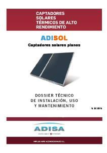 ADISOL. Captadores solares planos