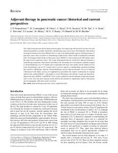 Adjuvant therapy in pancreatic cancer: historical and current perspectives