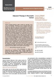 Adjuvant Therapy in Pancreatic Cancer