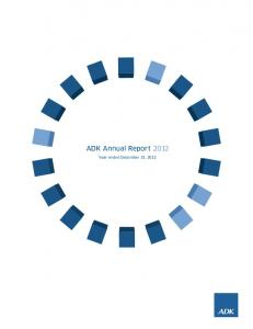 ADK Annual Report Year ended December 31, 2012