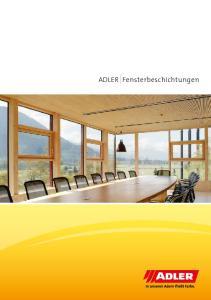 ADLER Fensterbeschichtungen