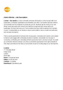 Admin Worker - Job Description