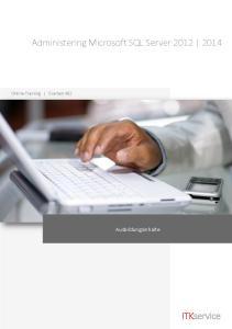 Administering Microsoft SQL Server