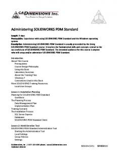 Administering SOLIDWORKS PDM Standard