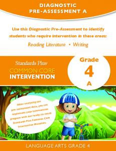 Administering the Diagnostic Pre-Assessment: