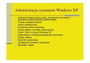 Administracja systemem Windows XP