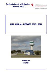 Administration de la Navigation Aérienne (ANA) ANA ANNUAL REPORT
