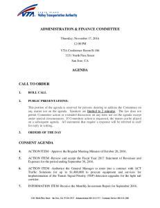 ADMINISTRATION & FINANCE COMMITTEE AGENDA