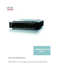 ADMINISTRATION GUIDE Cisco Small Business