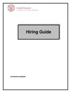 Administrative Human Resources. Hiring Guide