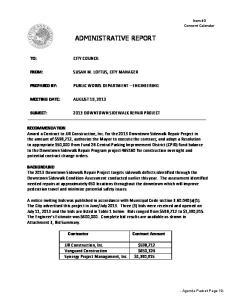 ADMINISTRATIVE REPORT