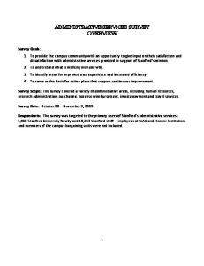 ADMINISTRATIVE SERVICES SURVEY OVERVIEW