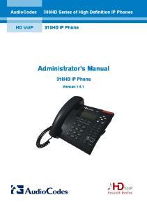 Administrator s Manual