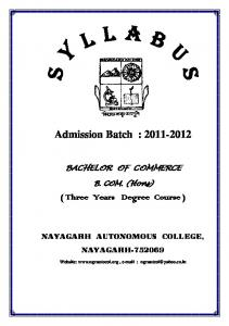 Admission Batch :