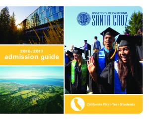 admission guide. California First-Year Students