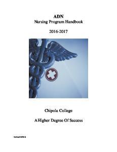 ADN Nursing Program Handbook