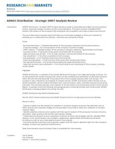 ADNOC Distribution - Strategic SWOT Analysis Review