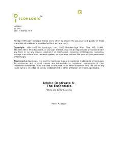 Adobe Captivate 6: The Essentials