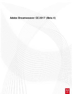 Adobe Dreamweaver CC 2017 (Beta 4)