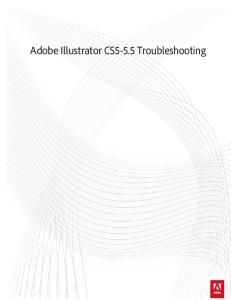 Adobe Illustrator CS5-5.5 Troubleshooting