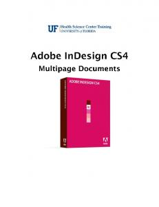 Adobe InDesign. Contents