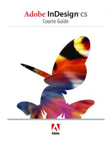 Adobe InDesign CS. Course Guide
