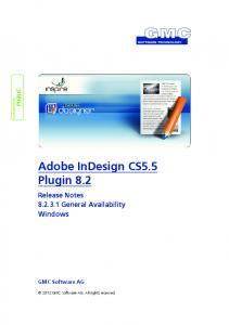 Adobe InDesign CS5.5 Plugin 8.2