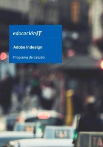 Adobe Indesign. Programa de Estudio