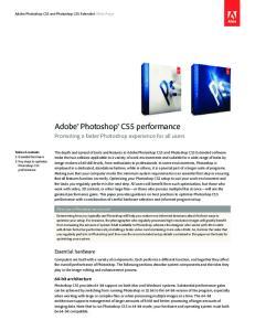 Adobe Photoshop CS5 performance