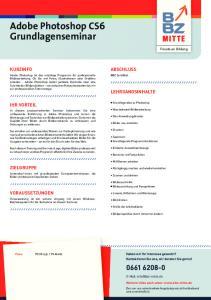Adobe Photoshop CS6 Grundlagenseminar