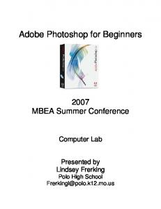Adobe Photoshop for Beginners
