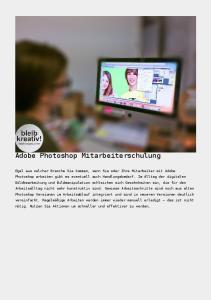 Adobe Photoshop Mitarbeiterschulung