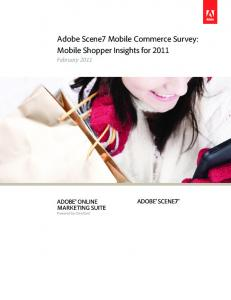 Adobe Scene7 Mobile Commerce Survey: Mobile Shopper Insights for February 2011