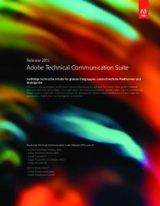 Adobe Technical Communication Suite
