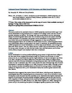 Adolescent Sexual Victimization, ADHD Symptoms, and Risky Sexual Behavior