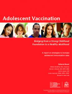 Adolescent Vaccination