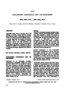 ADOLESCENT VARICOCELE AND ITS TREATMENT