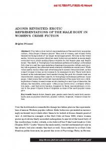 ADONIS REVISITED: EROTIC REPRESENTATIONS OF THE MALE BODY IN WOMEN S CRIME FICTION