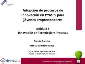 Adopción de procesos de innovación en PYMES para jóvenes emprendedores