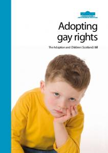 Adopting gay rights. The Adoption and Children (Scotland) Bill. Image posed by model for illustrative purposes only