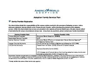 Adoption Family Service Plan