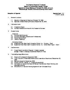 Adoption of Agenda Agenda Item: , 05-06
