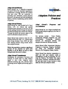Adoption Policies and Practices