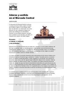 Adorno y sentido en el Mercado Central