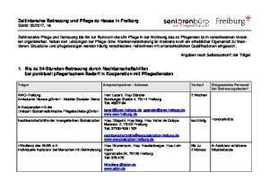 Adresse Vorlauf Eingesetztes Personal bei Betreuungsbedarf AWO-Freiburg Ambulante Dienste ggmbh - Mobiler Sozialer Dienst