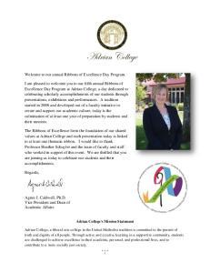 Adrian College's Mission Statement