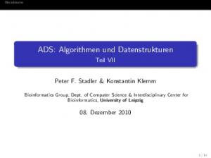 ADS: Algorithmen und Datenstrukturen