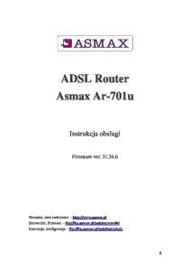 ADSL Router Asmax Ar-701u